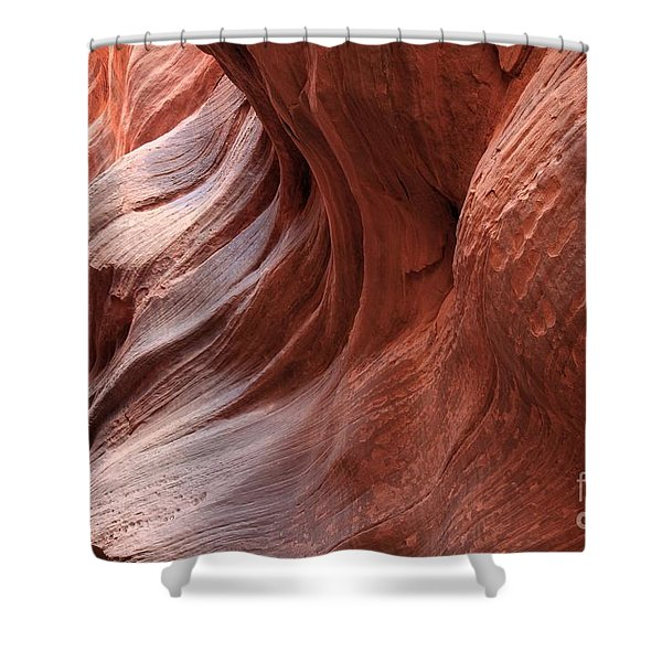 Fire On The Walls Shower Curtain