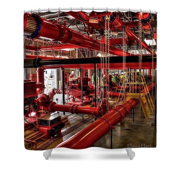 Fire Pumps Shower Curtain