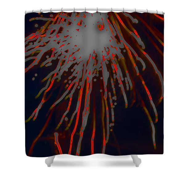 Shower Curtain featuring the photograph Fire Works by Mae Wertz