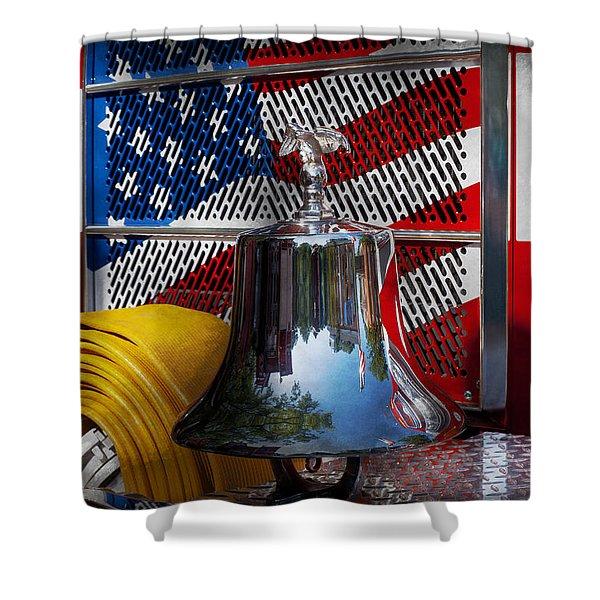Fireman - Red Hot  Shower Curtain