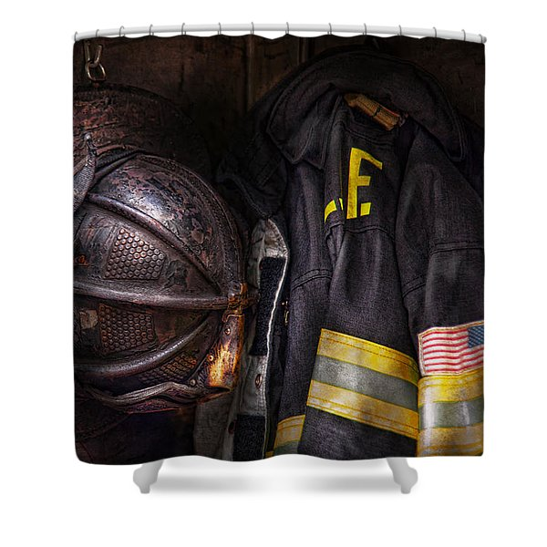 Fireman - Worn And Used Shower Curtain
