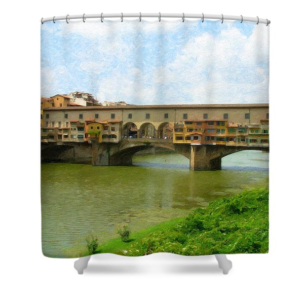 Firenze Bridge Itl2153 Shower Curtain