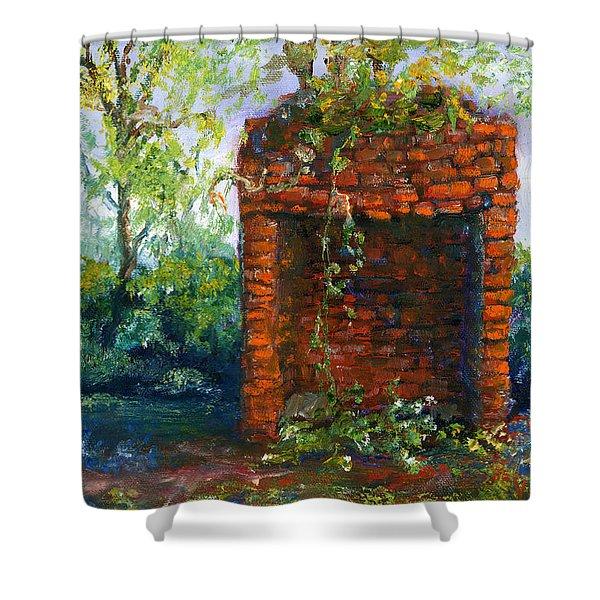 Fireplace At Melrose Plantation Louisiana Shower Curtain