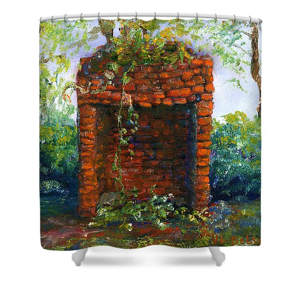 Fireplace At Melrose Plantation Louisiana Shower Curtain