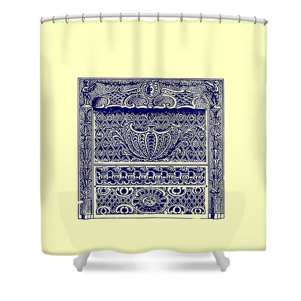 Fireplace Front Patent 1902 Shower Curtain