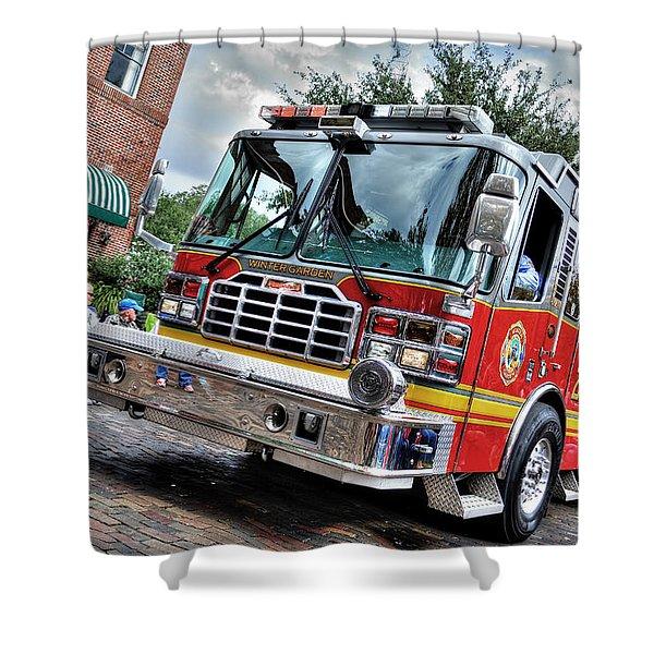 Firetruck Shower Curtain