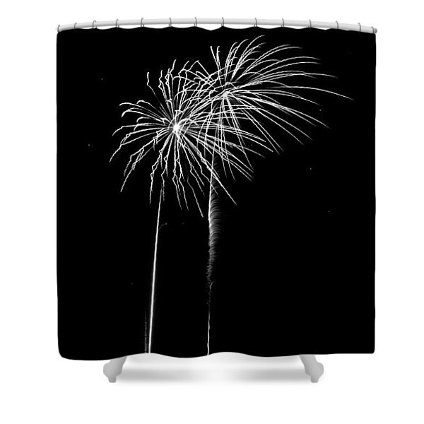 Firework Palm Trees Shower Curtain