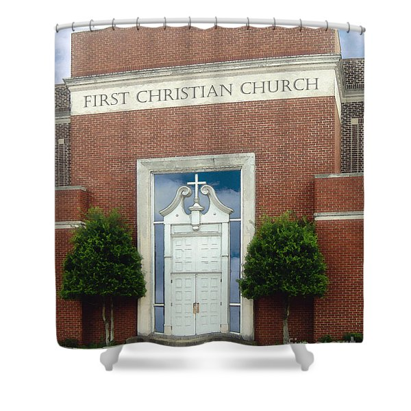 First Christian Church Shower Curtain