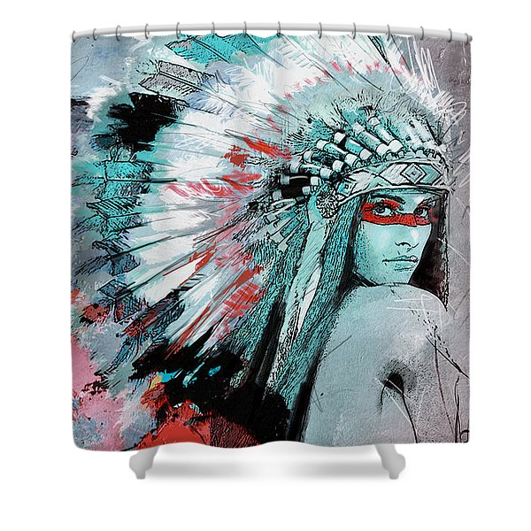 First Nations 005 C Shower Curtain