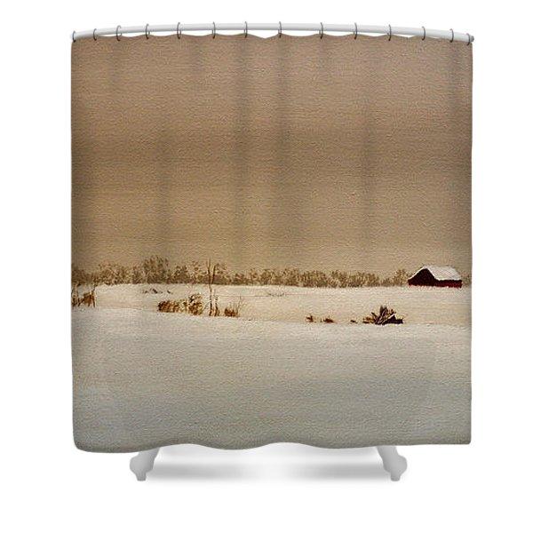 First Snow Shower Curtain
