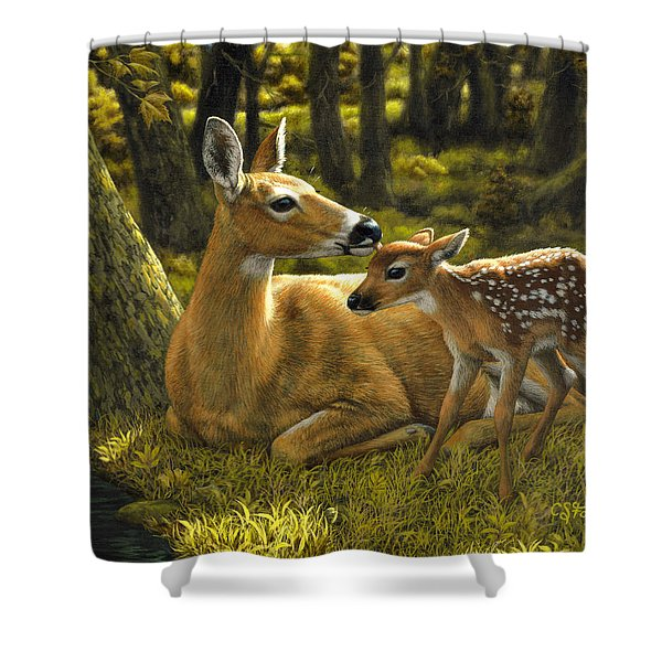 First Spring - Variation Shower Curtain