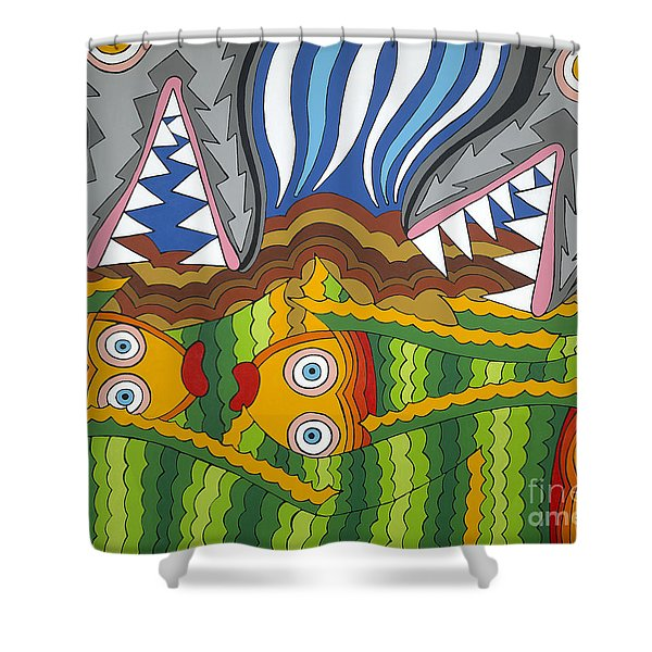 Fish Dinner Shower Curtain
