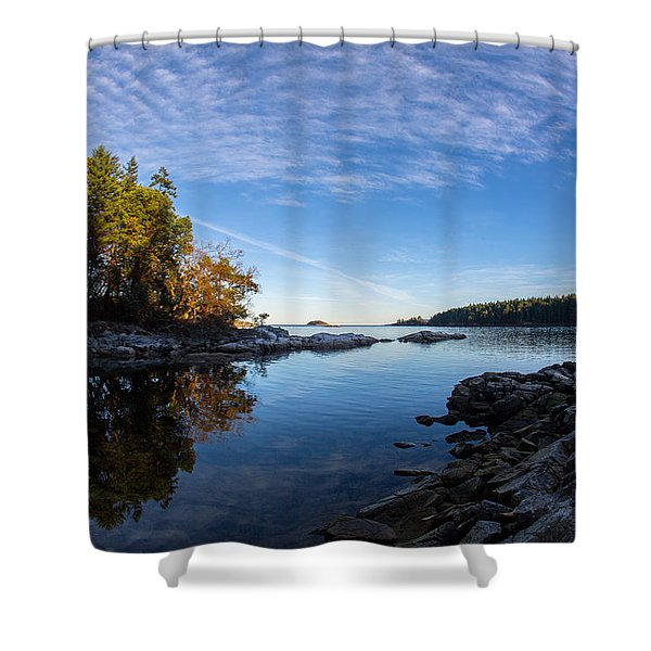 Shower Curtain featuring the photograph Fish Eye View by Randy Hall