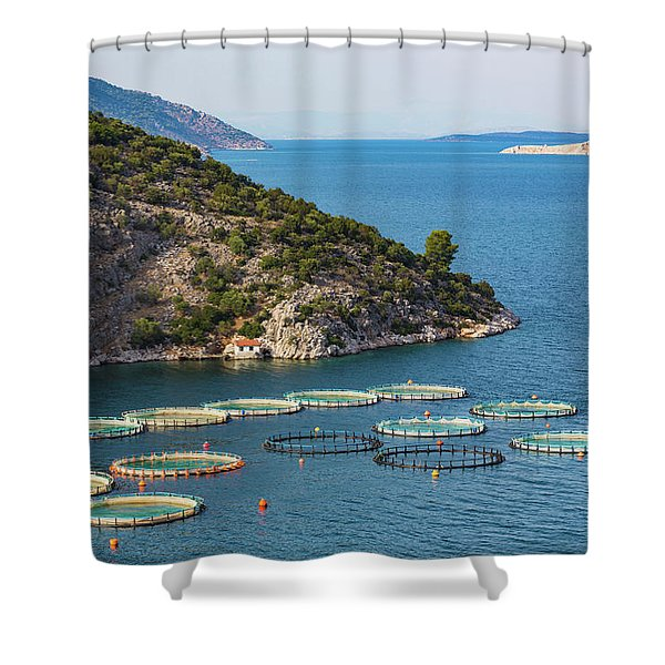 Fish Farming Or Pisciculture Shower Curtain