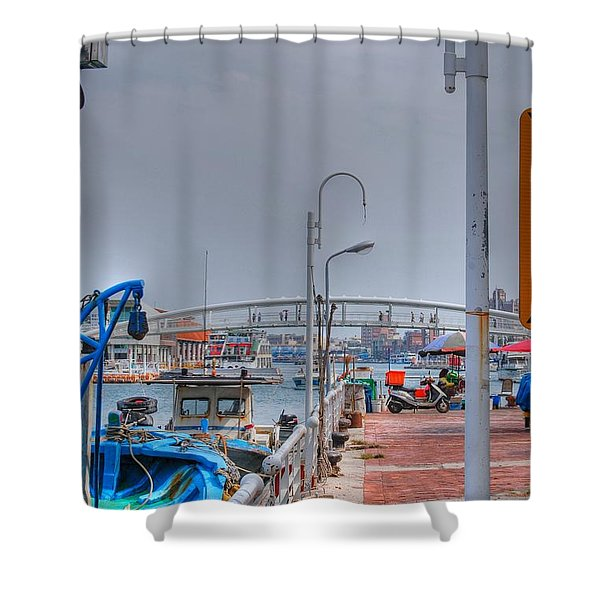 Fisherman's Wharf Taiwan Shower Curtain