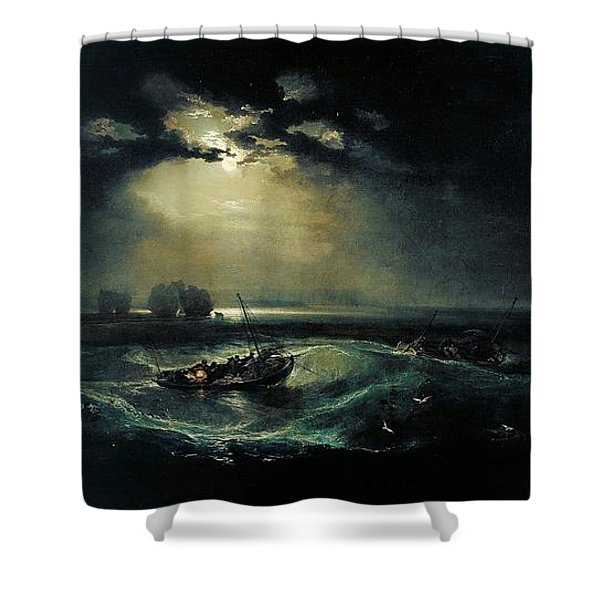 Fishermen At Sea 1796  Shower Curtain