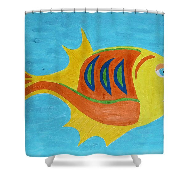 Fishie Shower Curtain