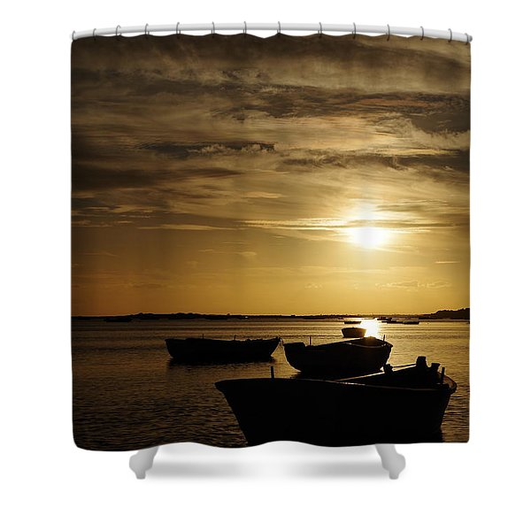 Fishing Boats In Cacela Velha Shower Curtain