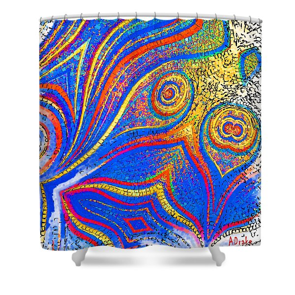 Fishing For Colours Shower Curtain