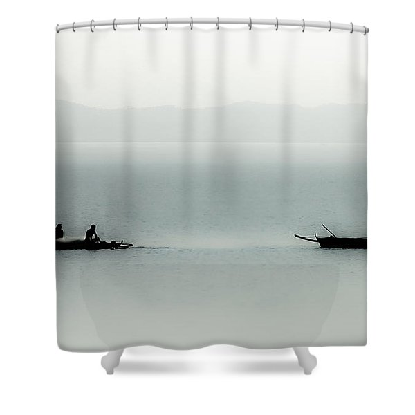 Fishing On The Philippine Sea   Shower Curtain