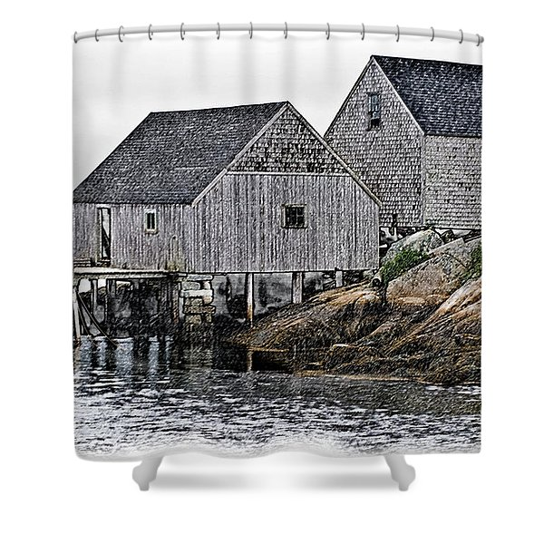 Fishing Sheds At Peggy's Cove Shower Curtain