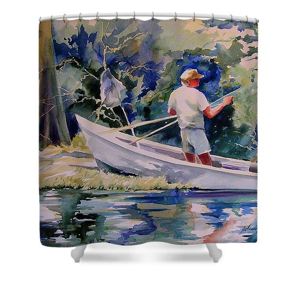 Fishing Spruce Creek Shower Curtain