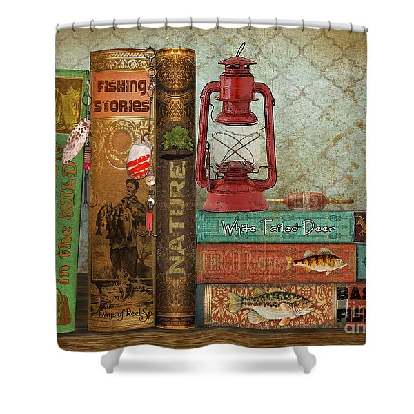 Fishing Storie Shower Curtain