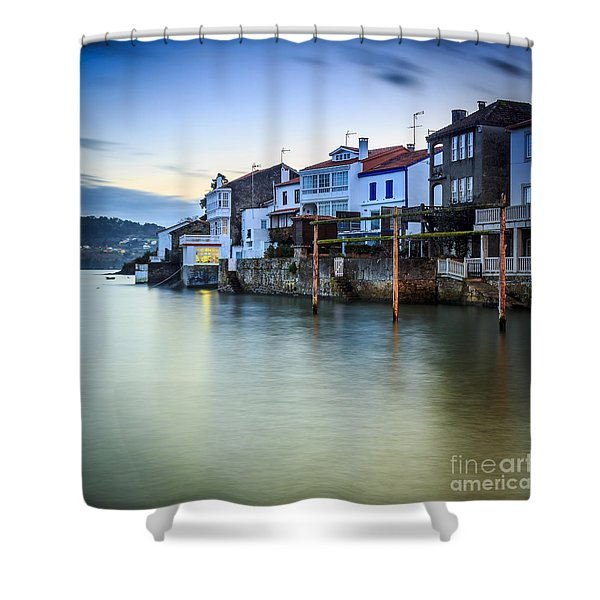 Fishing Town Of Redes Galicia Spain Shower Curtain