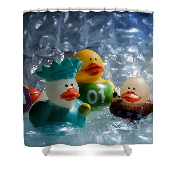 Five Ducks In A Row Shower Curtain