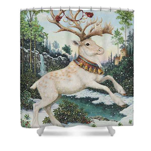 Five Gold Rings Shower Curtain