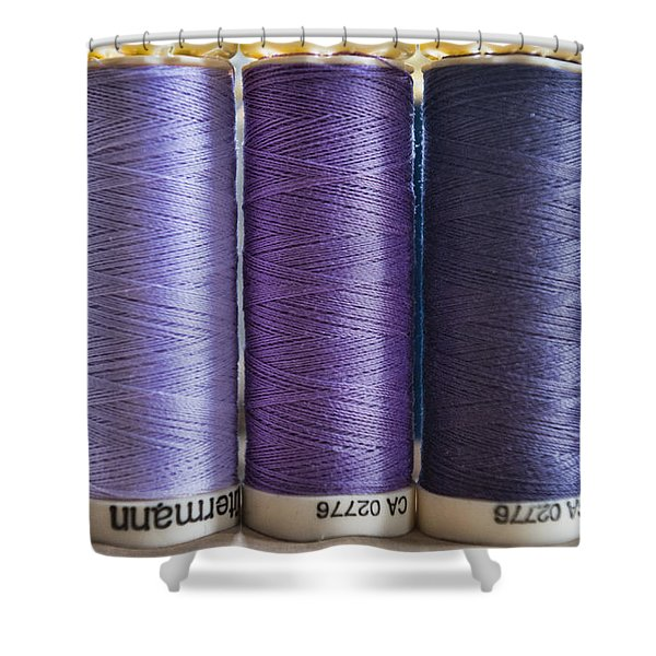 Five Times Purple Shower Curtain