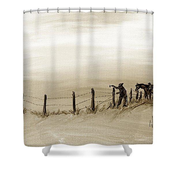 Fix On The Prairie Shower Curtain