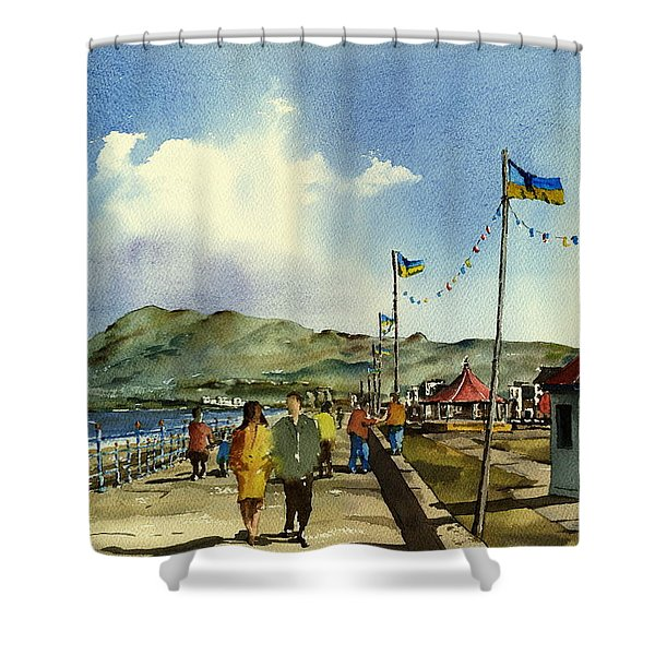 As I Walk Along The Promenade With An Independant Air  ....... Shower Curtain