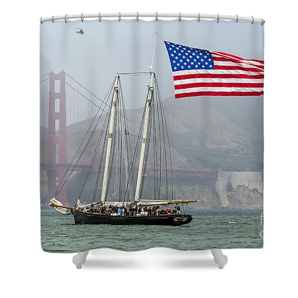 Flag Ship Shower Curtain