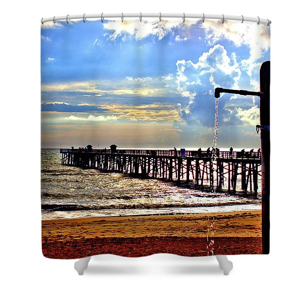 Flagler Pier Heaven Shower Curtain