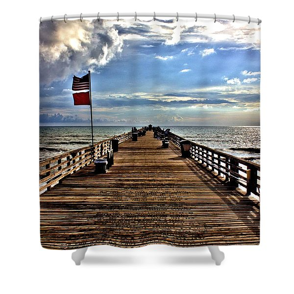 Flagler Pier Shower Curtain