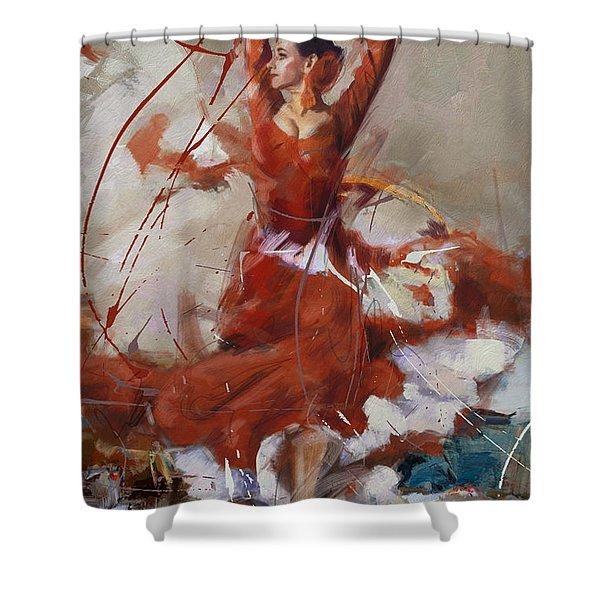 Flamenco 37 Shower Curtain