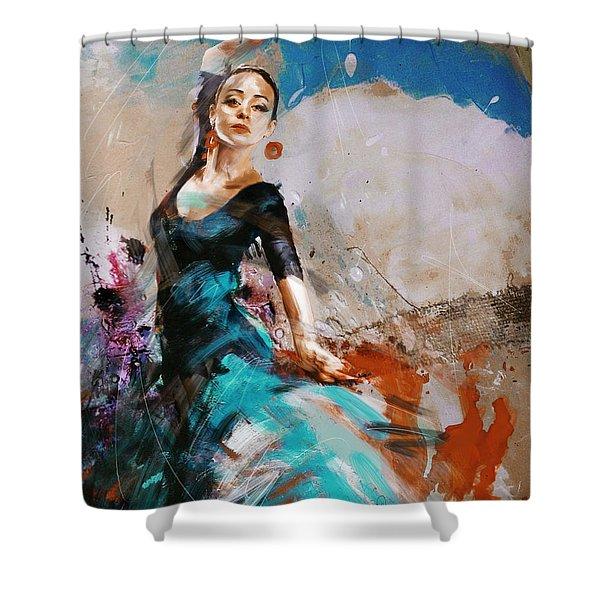 Flamenco 42 Shower Curtain