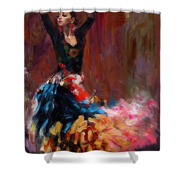 Flamenco 50 Shower Curtain