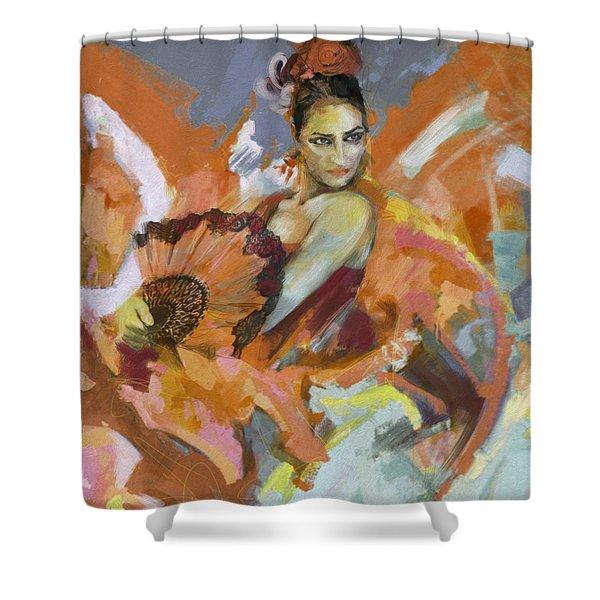 Flamenco 51 Shower Curtain