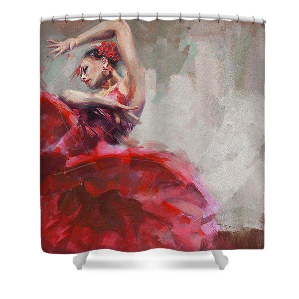 Flamenco 53 Shower Curtain