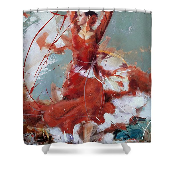Flamenco 55 Shower Curtain