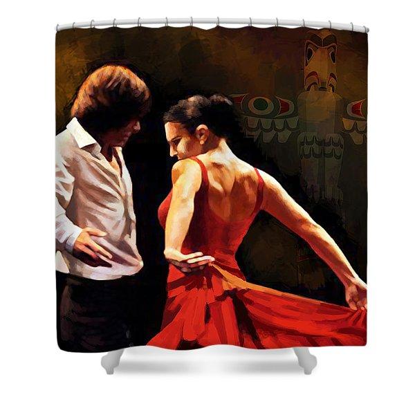 Flamenco Dancer 012 Shower Curtain