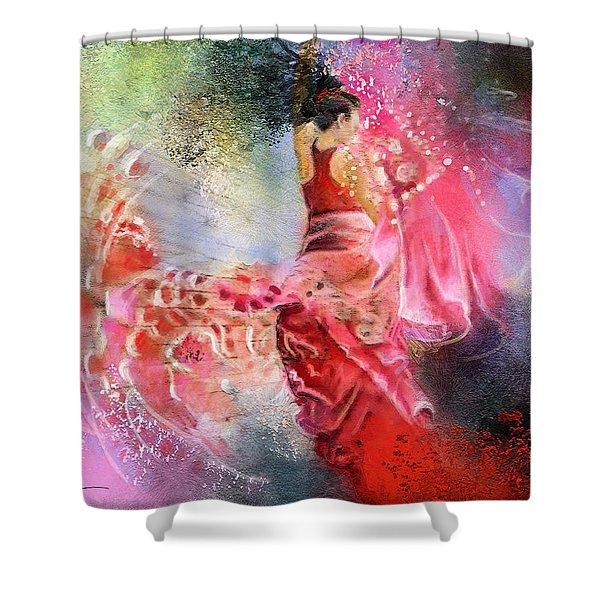 Flamencoscape 13 Shower Curtain