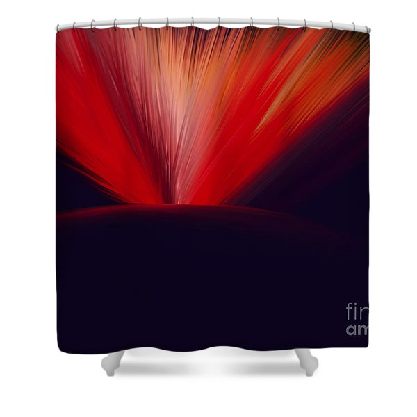 Flaming Planet Shower Curtain