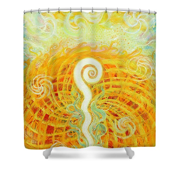 Flaming Sword Shower Curtain