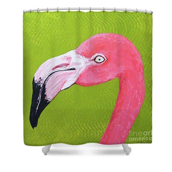 Flamingo Head Shower Curtain