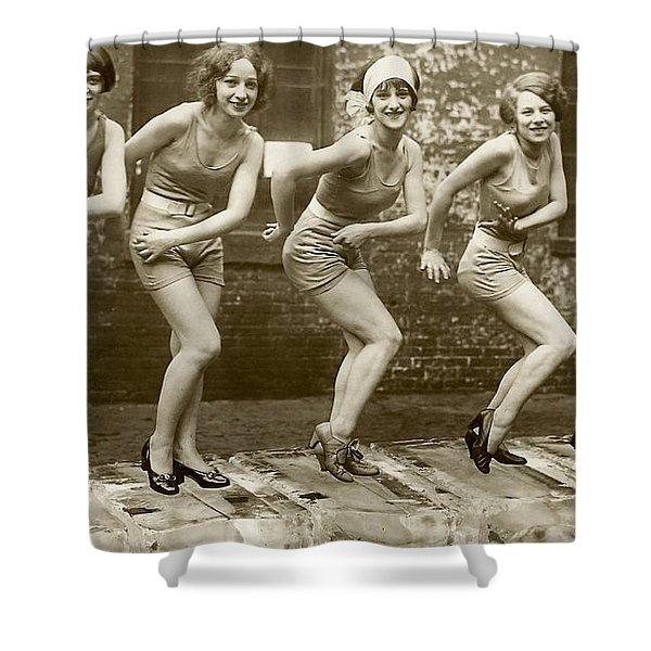 Flapper Girls Shower Curtain