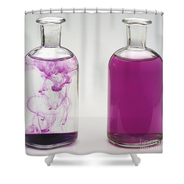 Flasks With Potassium Shower Curtain