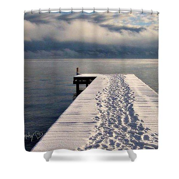 Flathead Lake Shower Curtain